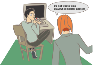 do not waste time playing computer games